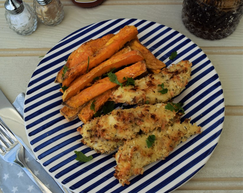 Parmesan-chicken-sweet-potato-chips-recipe-lucyloves-foodblog