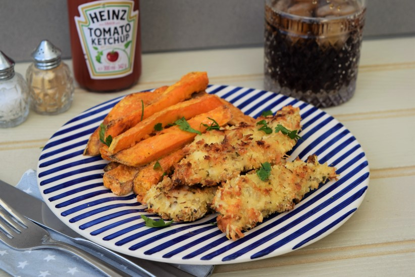 Parmesan-chicken-sweet-potato-chips-lucyloves-foodblog