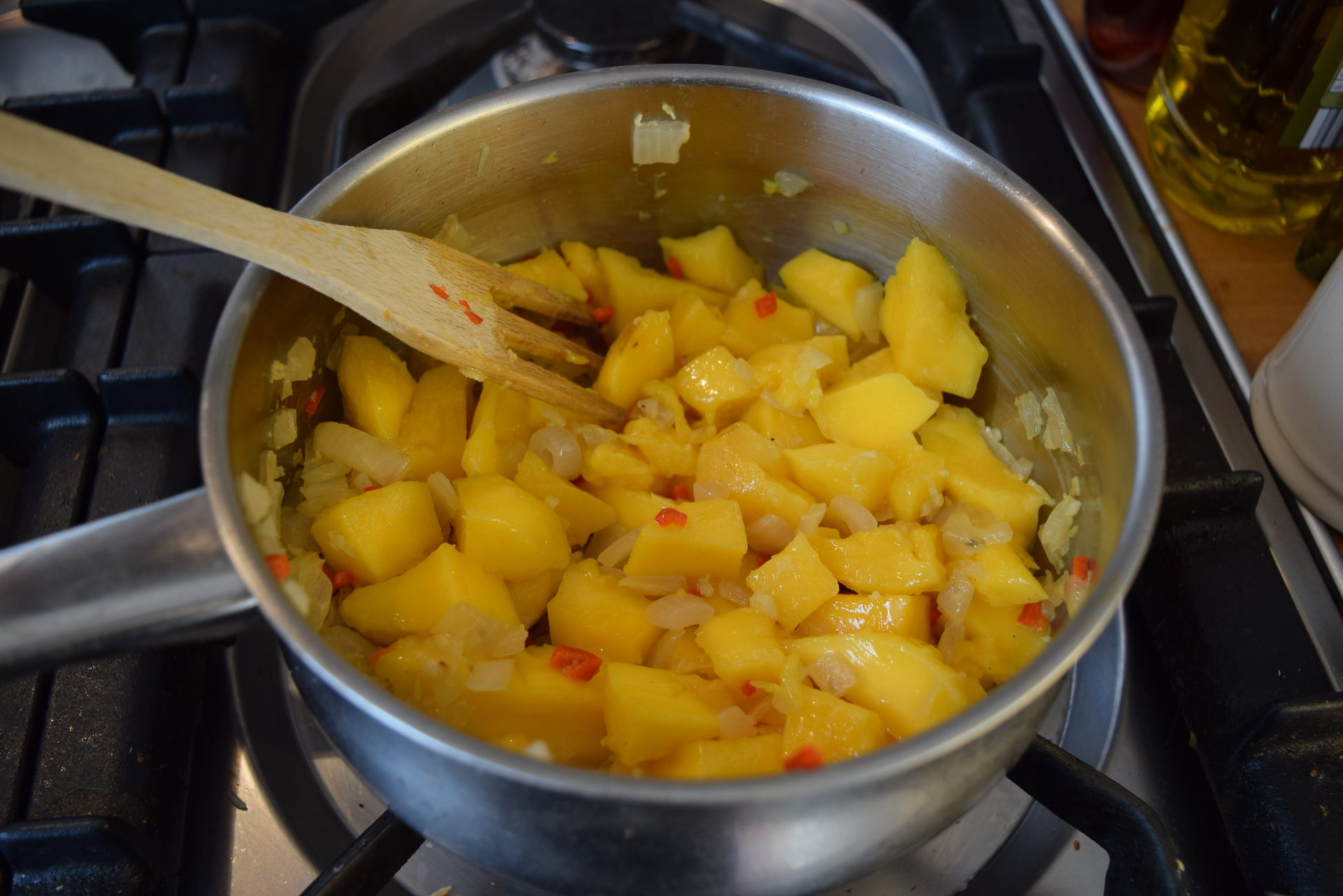 ... mango chutney on curried lentils homemade mango chutney recipe