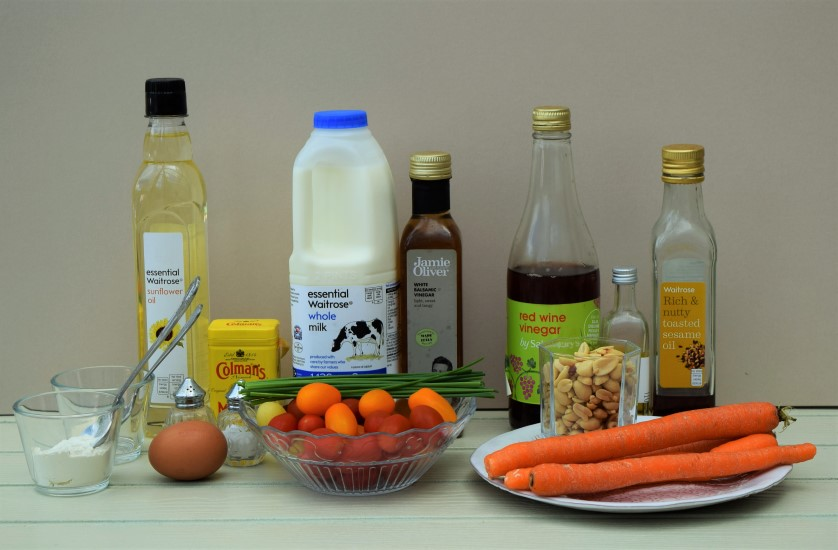 Cherry-tomatoes-salad-cream-dressing-carrot-peanut-salad-recipes-lucyloves-foodblog