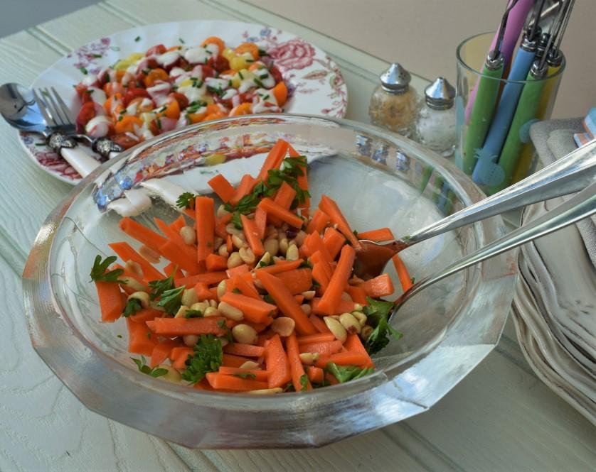 Cherry-tomato-salad-cream-dressing-carrot-peanut-salad-lucyloves-foodblog