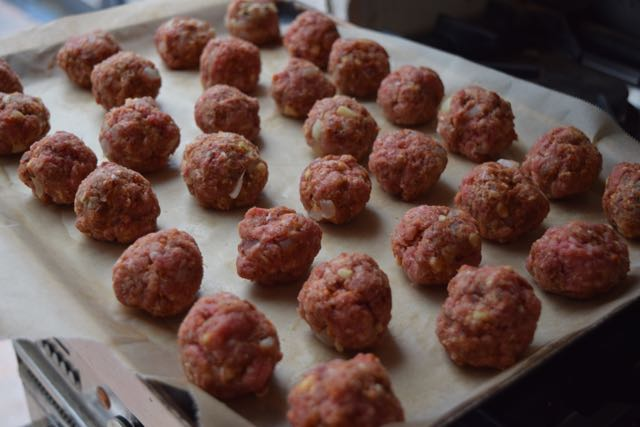 Chorizo-meatballs-cheese-polenta-chips-recipe-lucyloves-foodblog