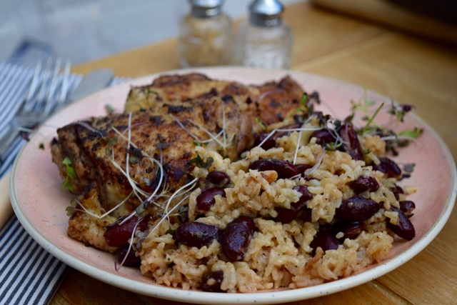 A One Pot Jerk Chicken Supper