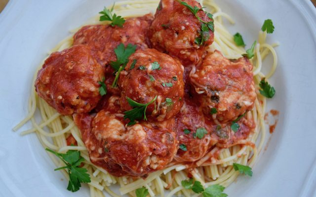 A Great Big Portion of Italian Chicken Meatballs
