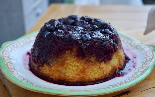 Slow Cooker Cherry Almond Pudding