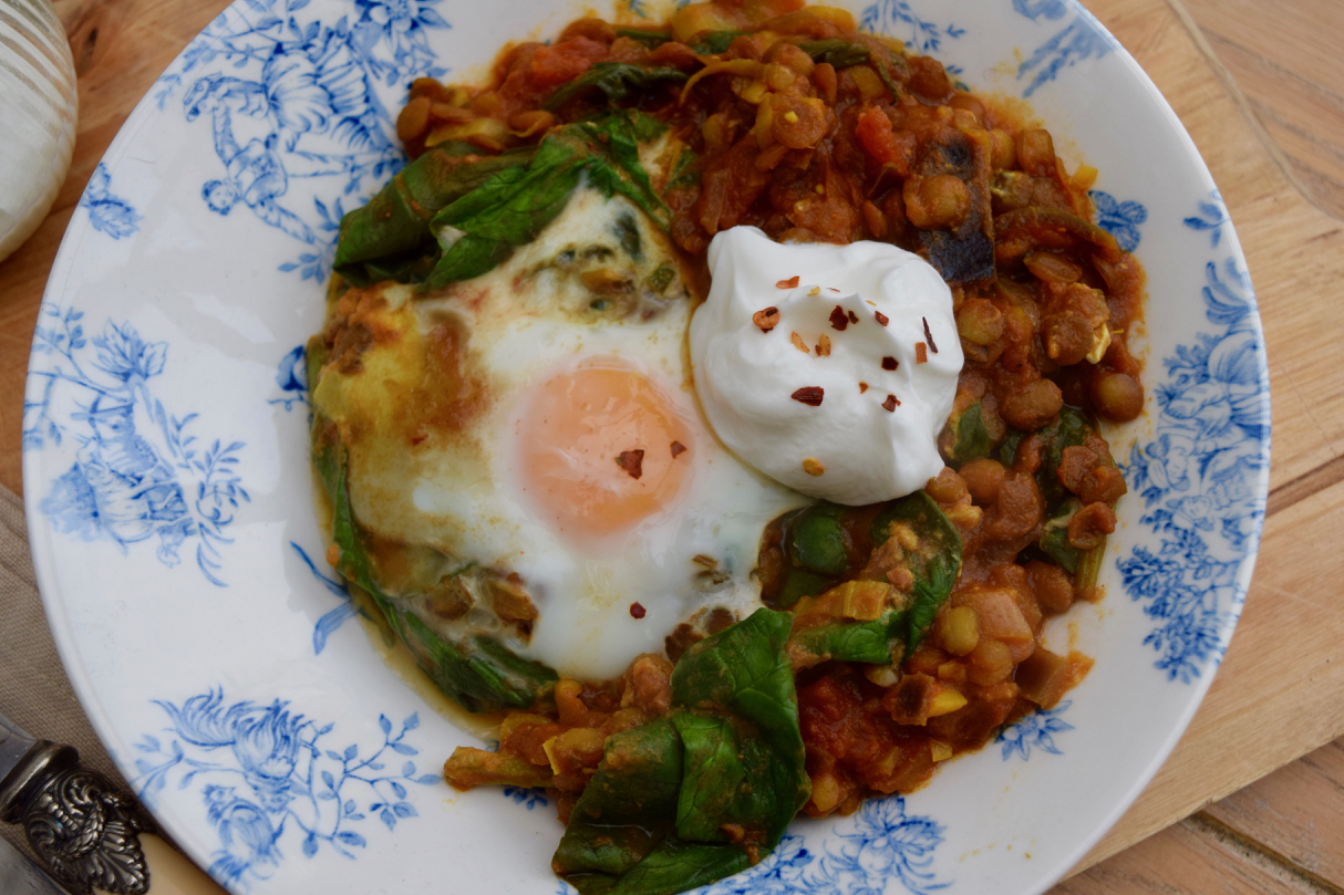 Eggs-lentils-spinach-recipe-lucyloves-foodblog