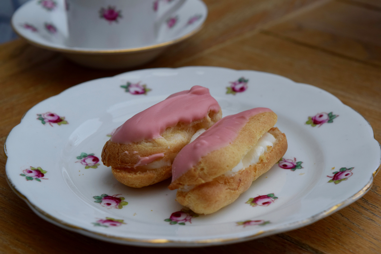 Tiny-pink-eclairs-recipe-lucyloves-foodblog