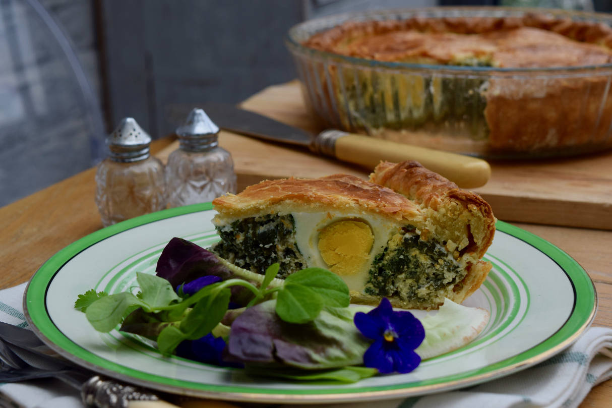 Spinach-ricotta-egg-italian-easter-tart-recipe-lucyloves-foodblog