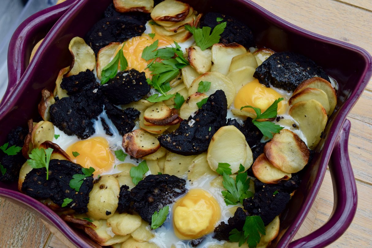 Black-pudding-potato-egg-bake-recipe-lucyloves-foodblog