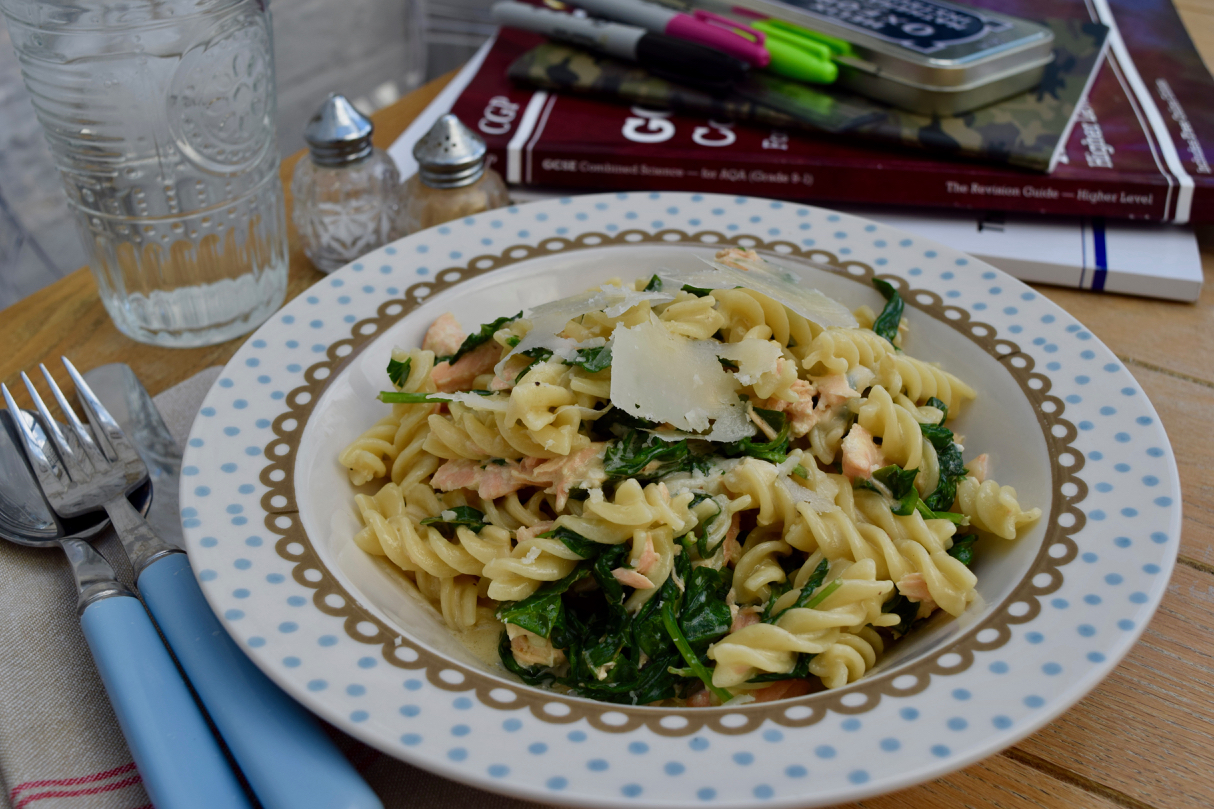 Pasta-salmon-spinach-recipe-lucyloves-foodblog