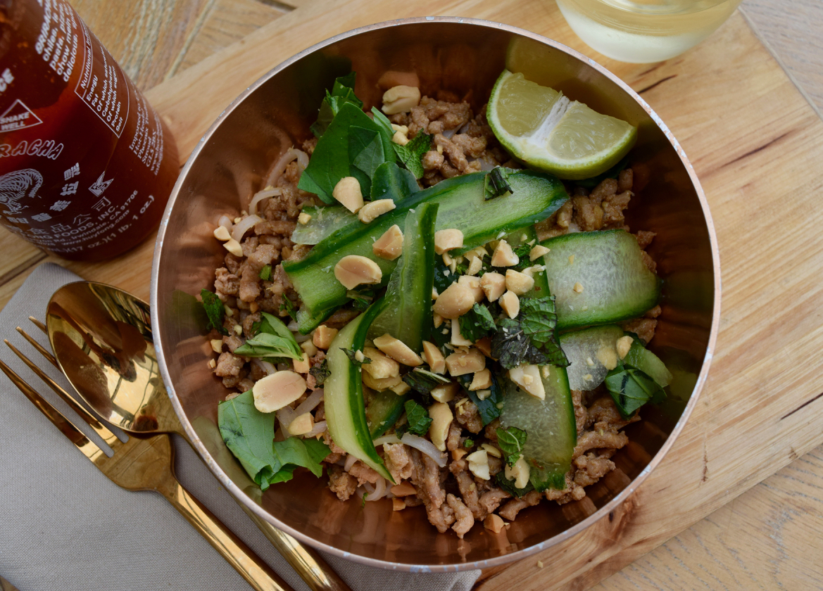 Summer Pork with Rice Noodles recipe from Lucy Loves