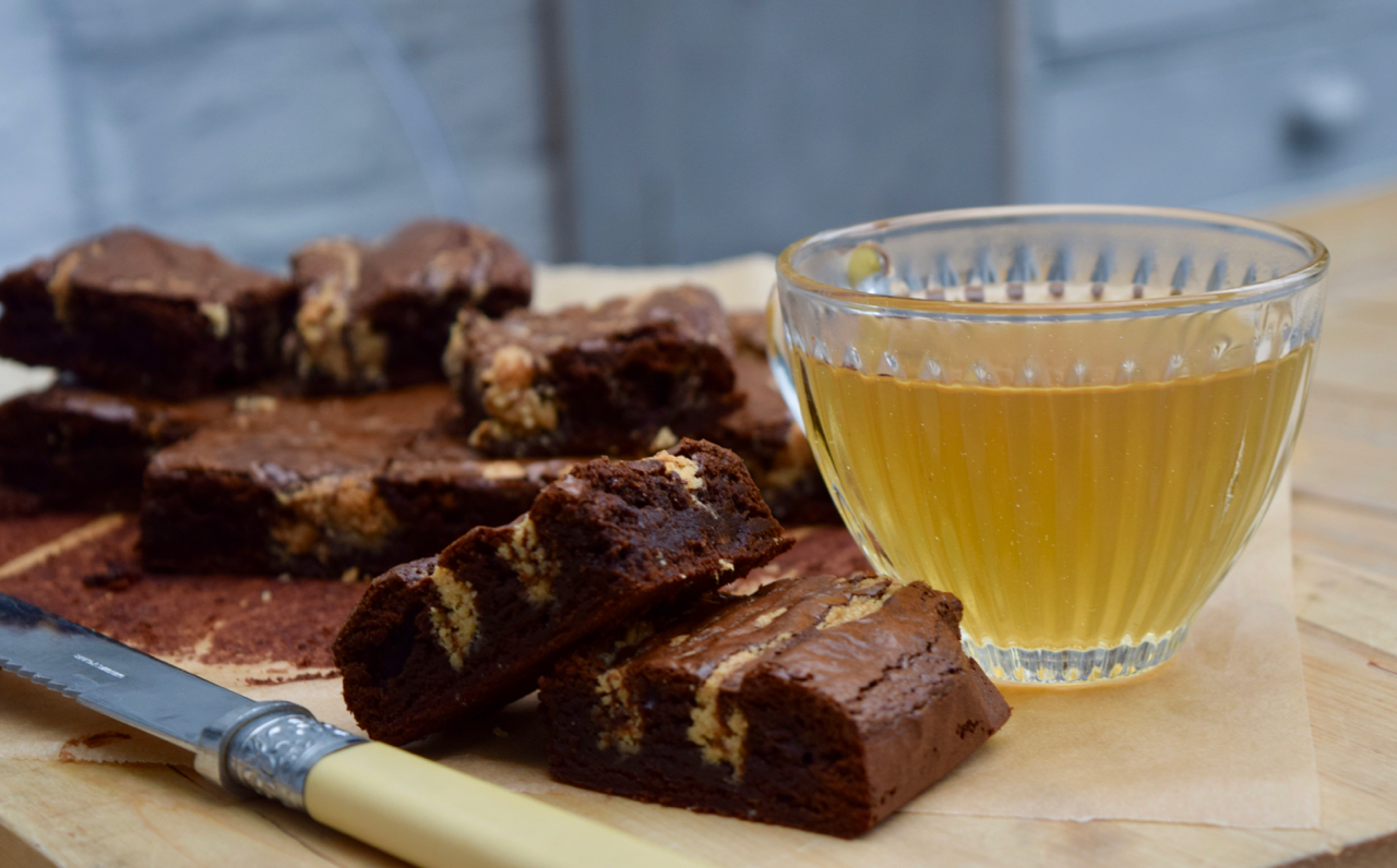 Tahini Brownies recipe from Lucy Loves Food Blog