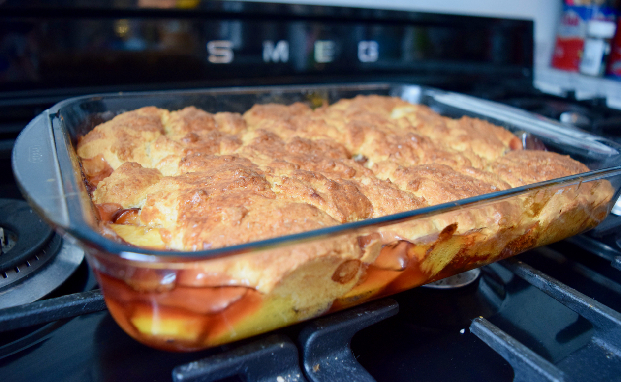 Peach Cobbler recipe from Lucy Loves Food Blog