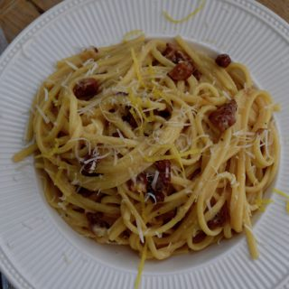 Lemony Carbonara Recipe from Lucy Loves Food Blog