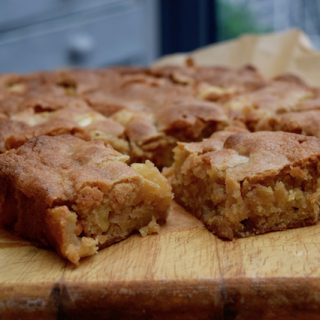Apple Blondies recipe from Lucy Loves Food Blog