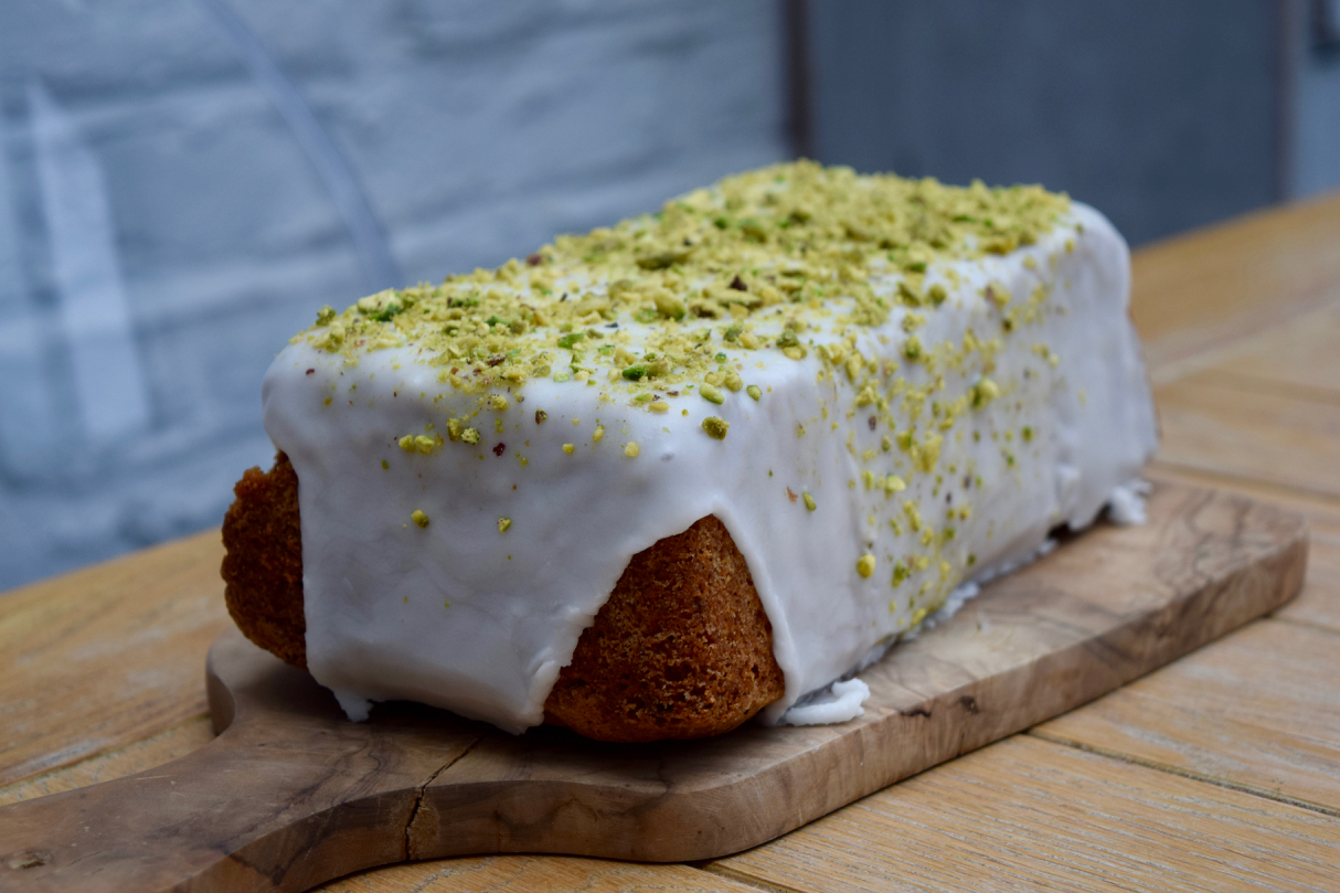 Lemon Pistachio Loaf recipe from Lucy Loves