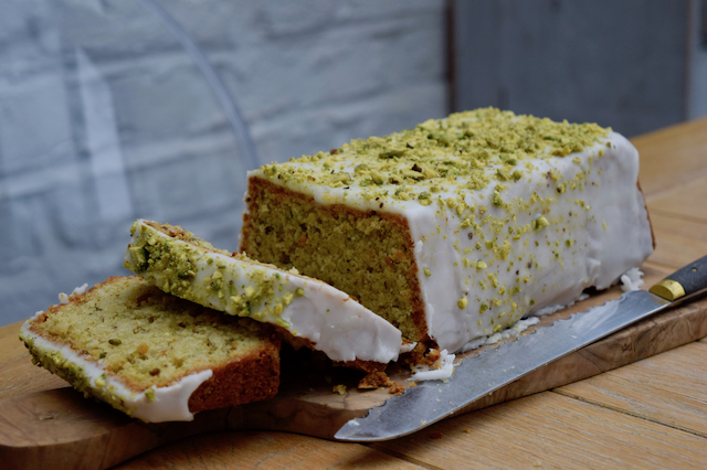 Lemon Pistachio Loaf recipe from Lucy Loves Food Blog