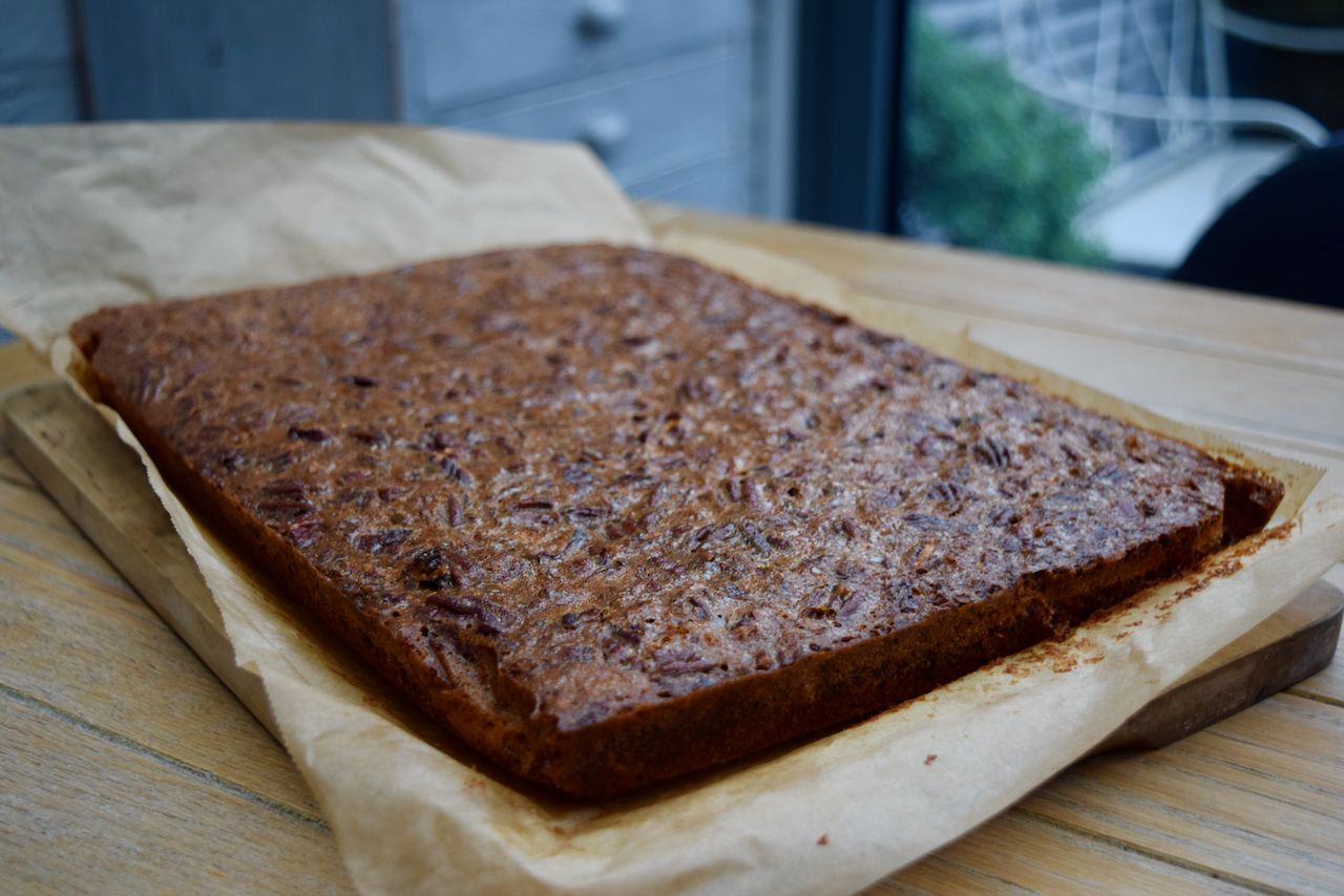 Pecan Pie Bars recipe from Lucy Loves Food Blog