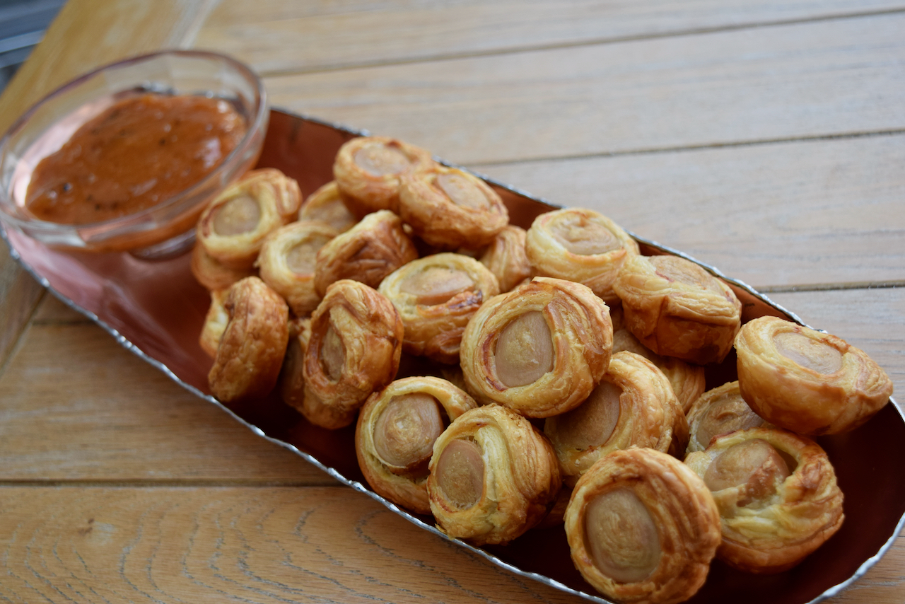 Pigs in Blankets recipe from Lucy Loves Food Blog