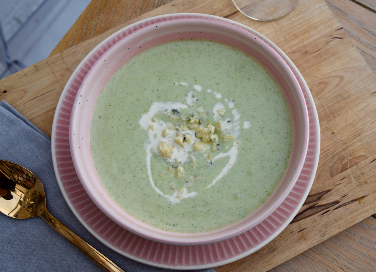 Stilton and Broccoli Soup recipe from Lucy Loves Food Blog