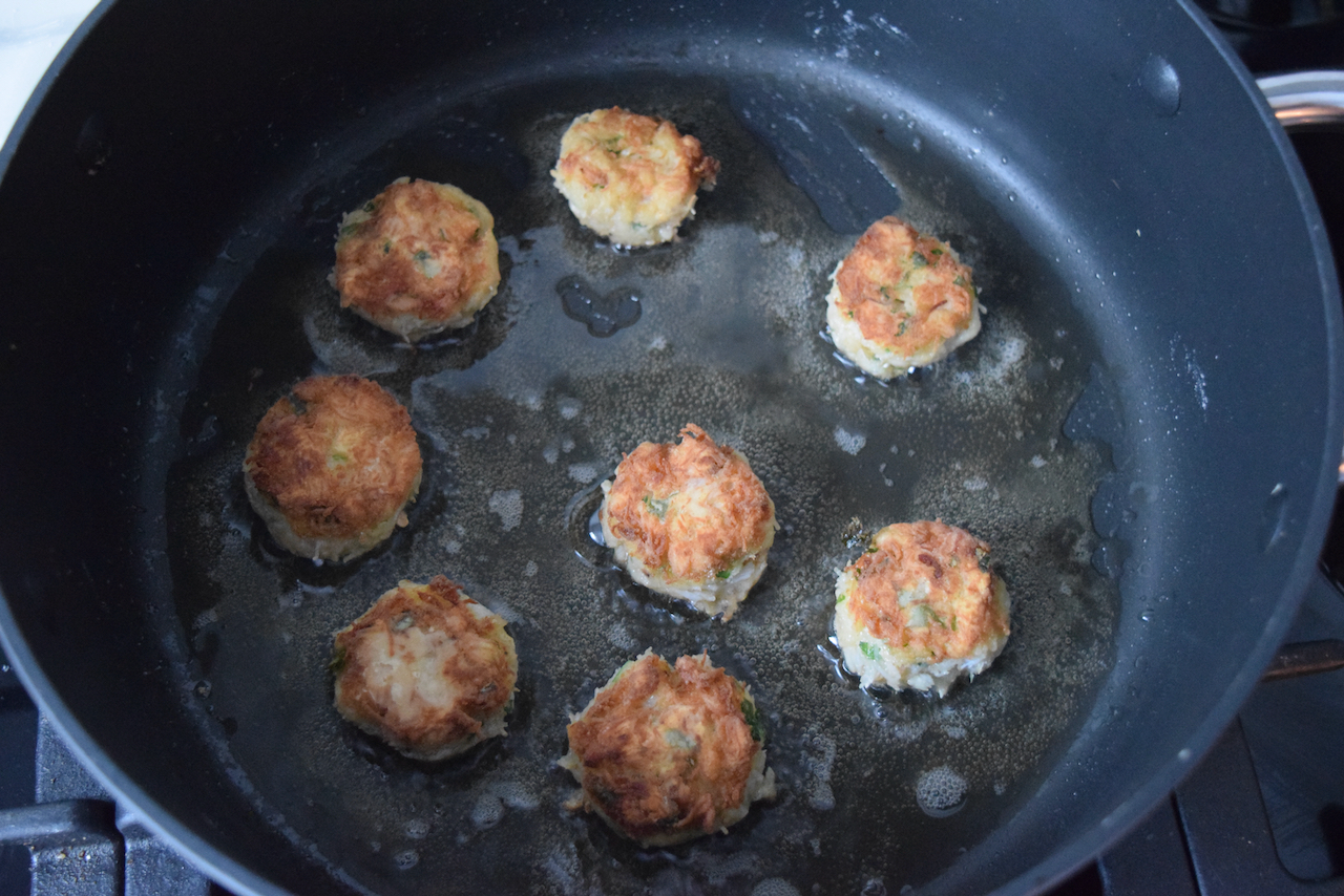 Tiny Crab Cakes recipe from Lucy Loves Food Blog