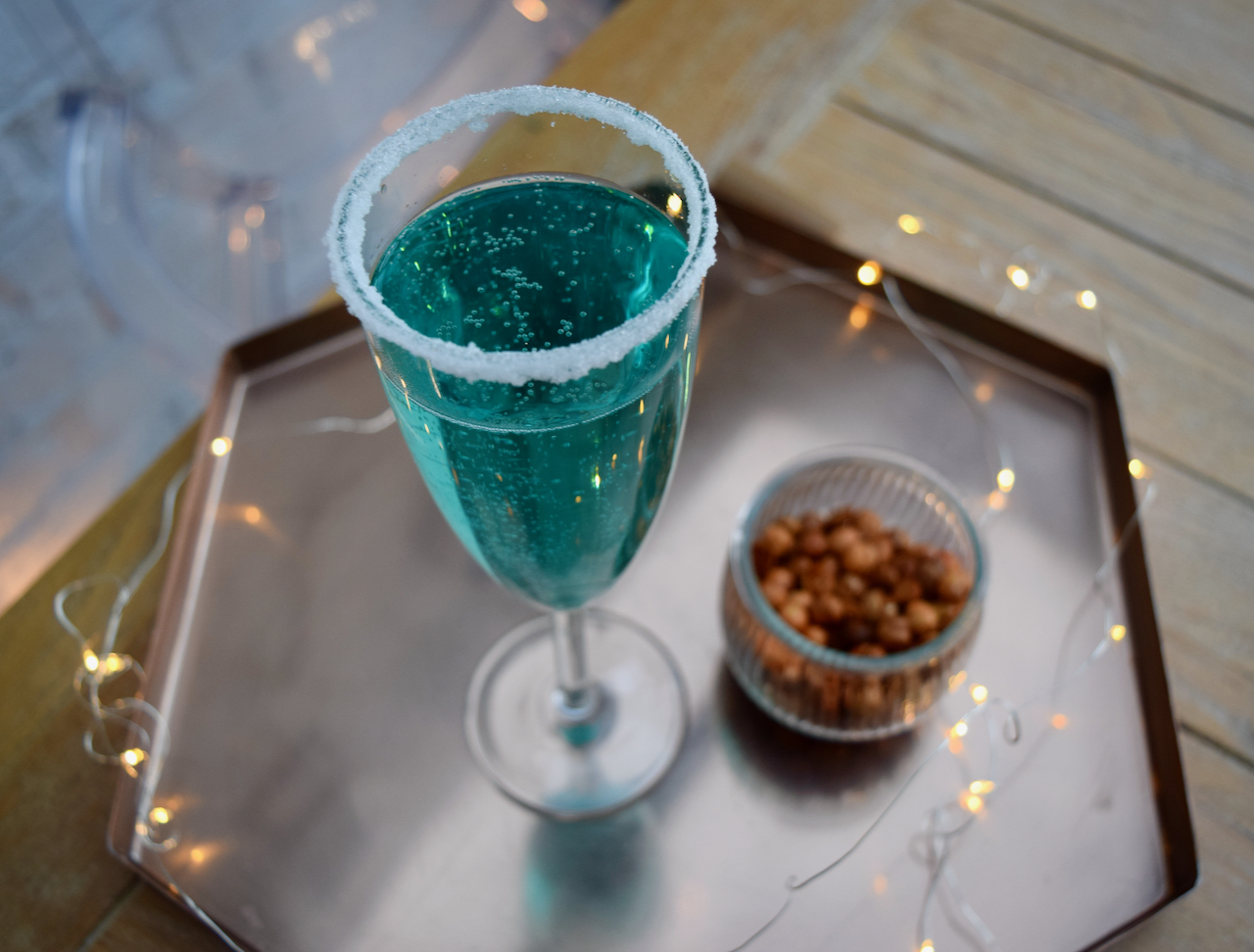 Jack Frost Bellini cocktail from Lucy Loves Food Blog