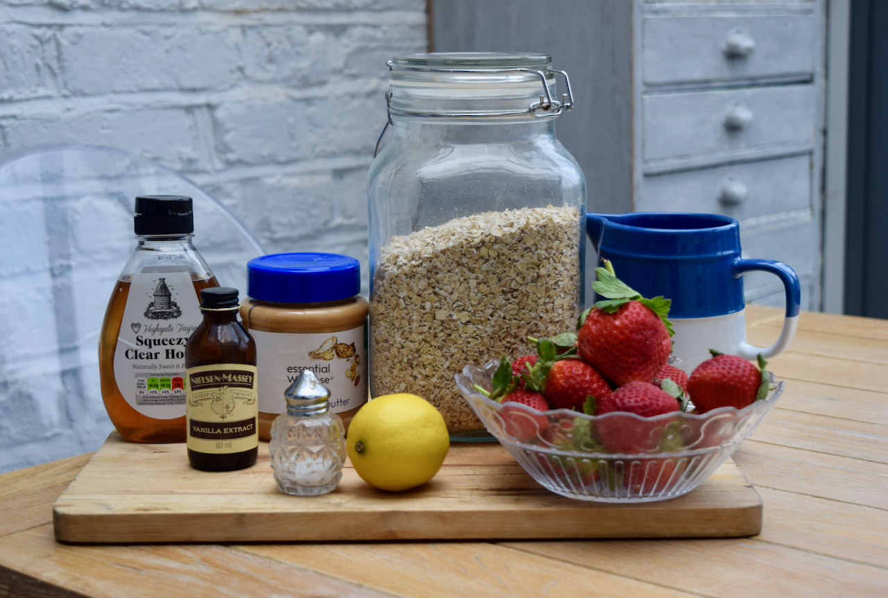 Peanut Butter and Jam Porridge recipe from Lucy Loves Food Blog