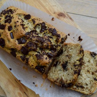 Vegan Chocolate Chip Loaf Cake recipe from Lucy Loves Food Blog