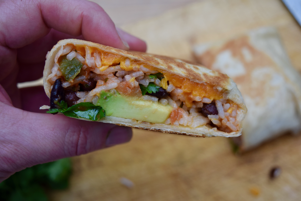 Bean and Cheese Burritos recipe from Lucy Loves Food Blog