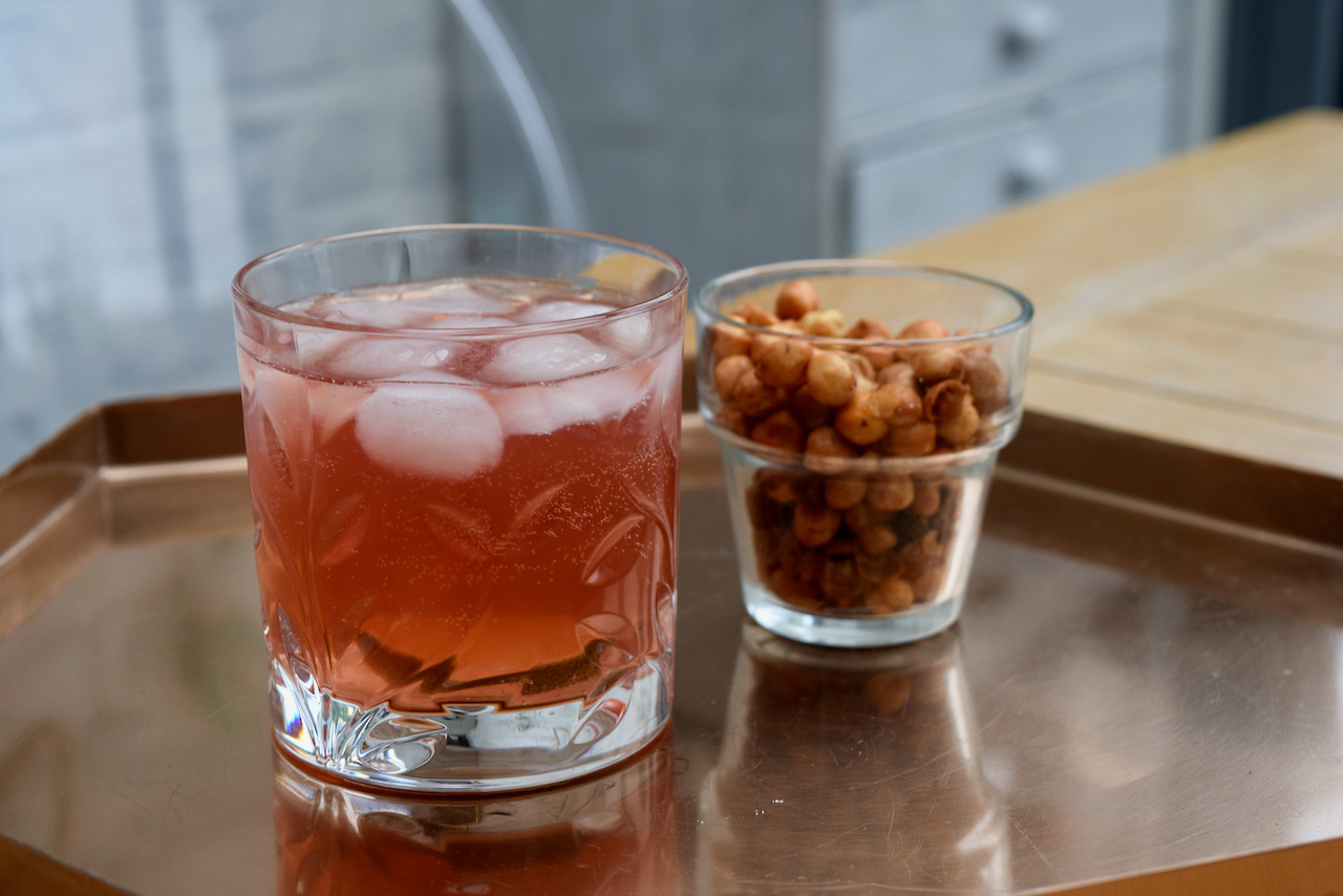 Pomegranate Gin Fizz recipe from Lucy Loves Food Blog