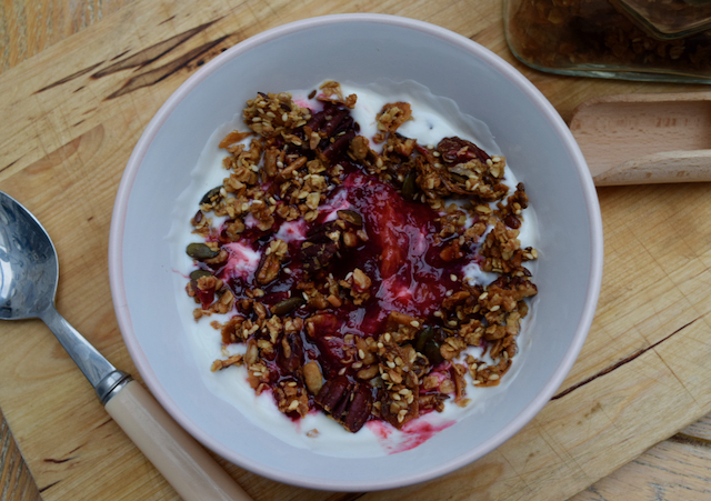 Maple Pecan Granola Recipe from Lucy Loves Food Blog