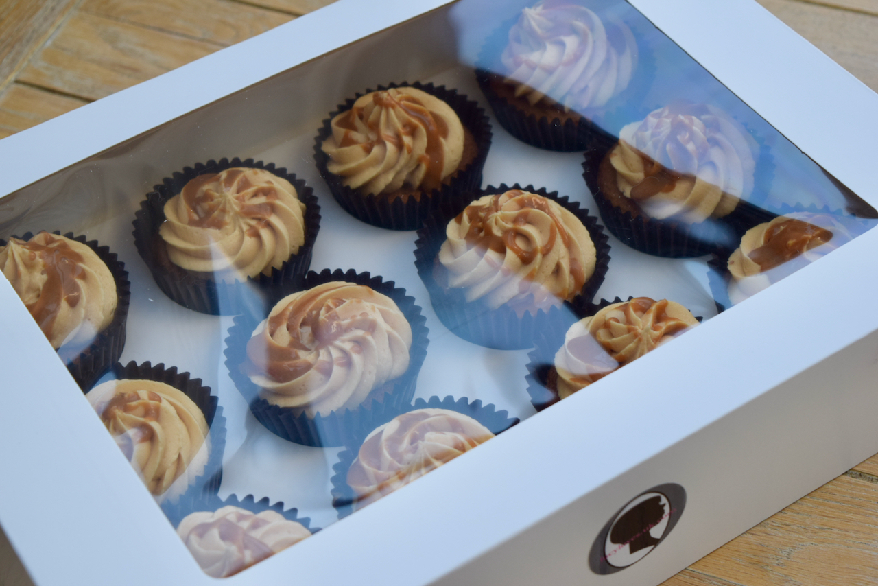 Salted Caramel Cupcakes recipe from Lucy Loves Food Blog