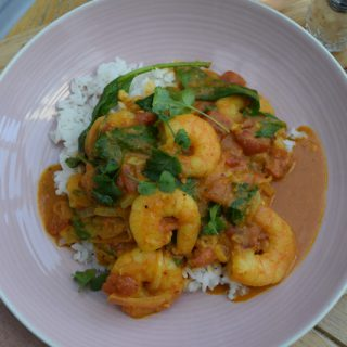 Quick Coconut Prawn Curry recipe from Lucy Loves Food Blog