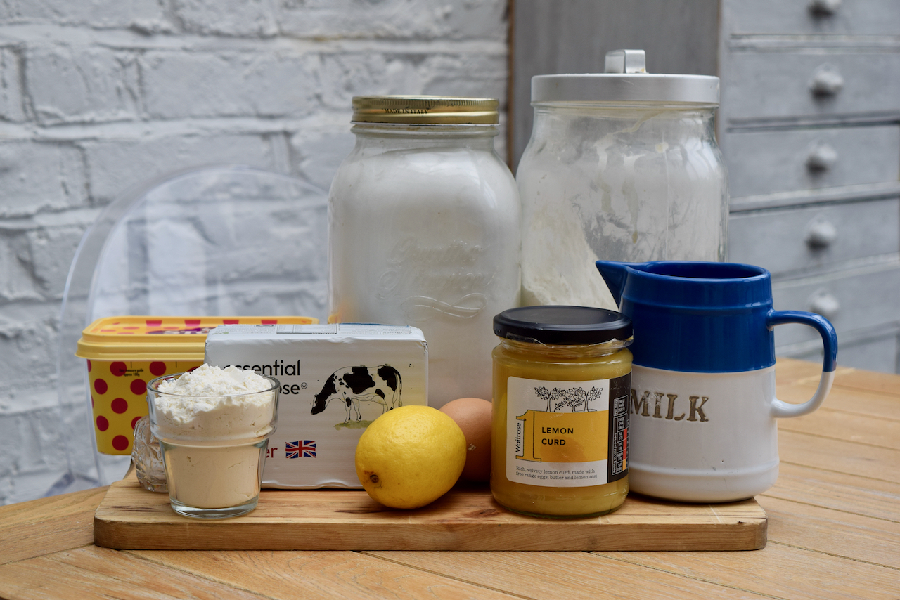 Lemon Curd Loaf Cake recipe from Lucy Loves Food Blog