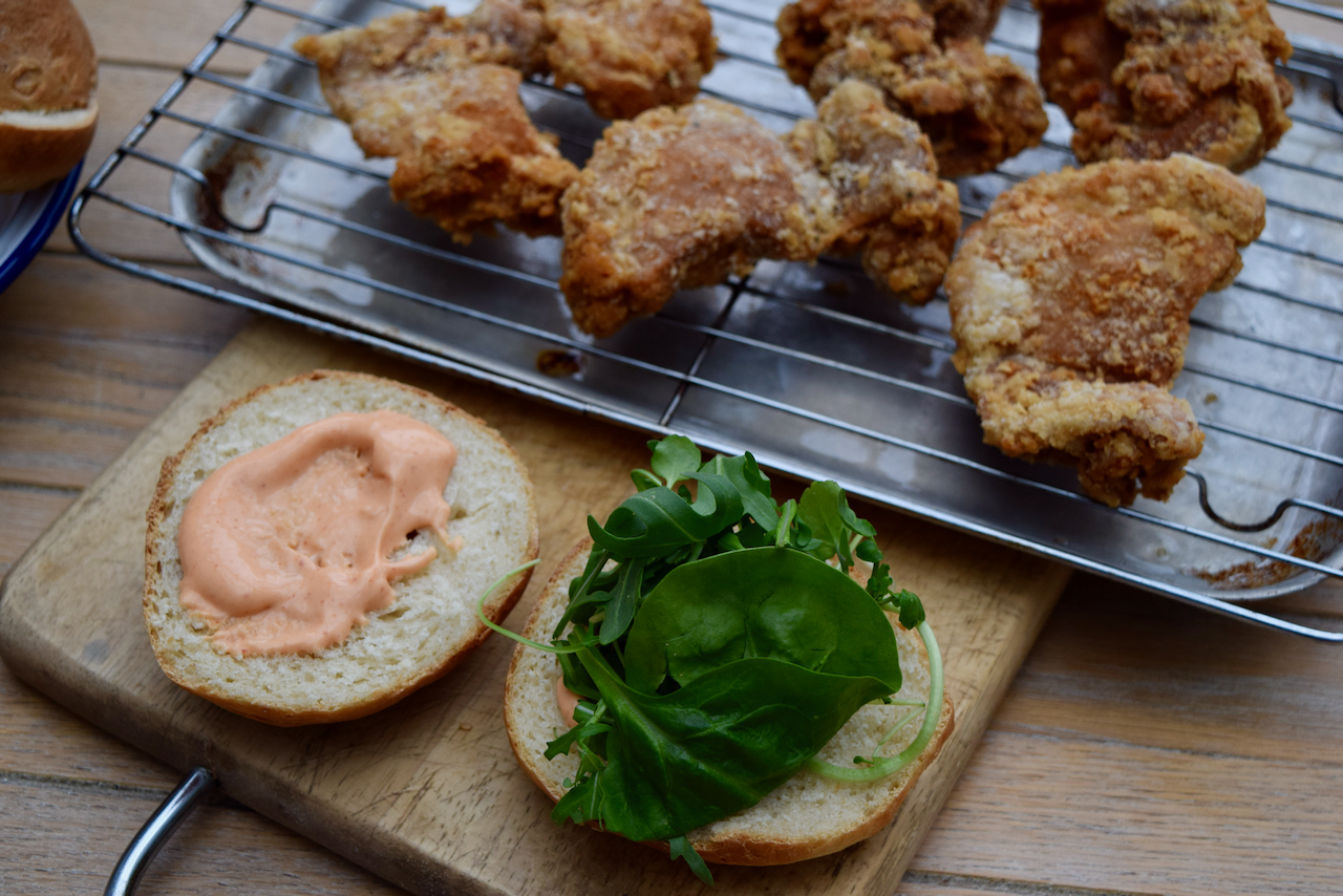 Crispy Fried Chicken Burger recipe from Lucy Loves Food Blog