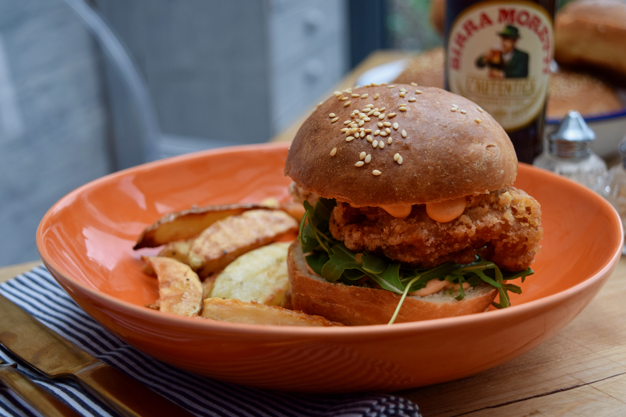 Best Fried Chicken Burger from Lucy Loves Food Blog