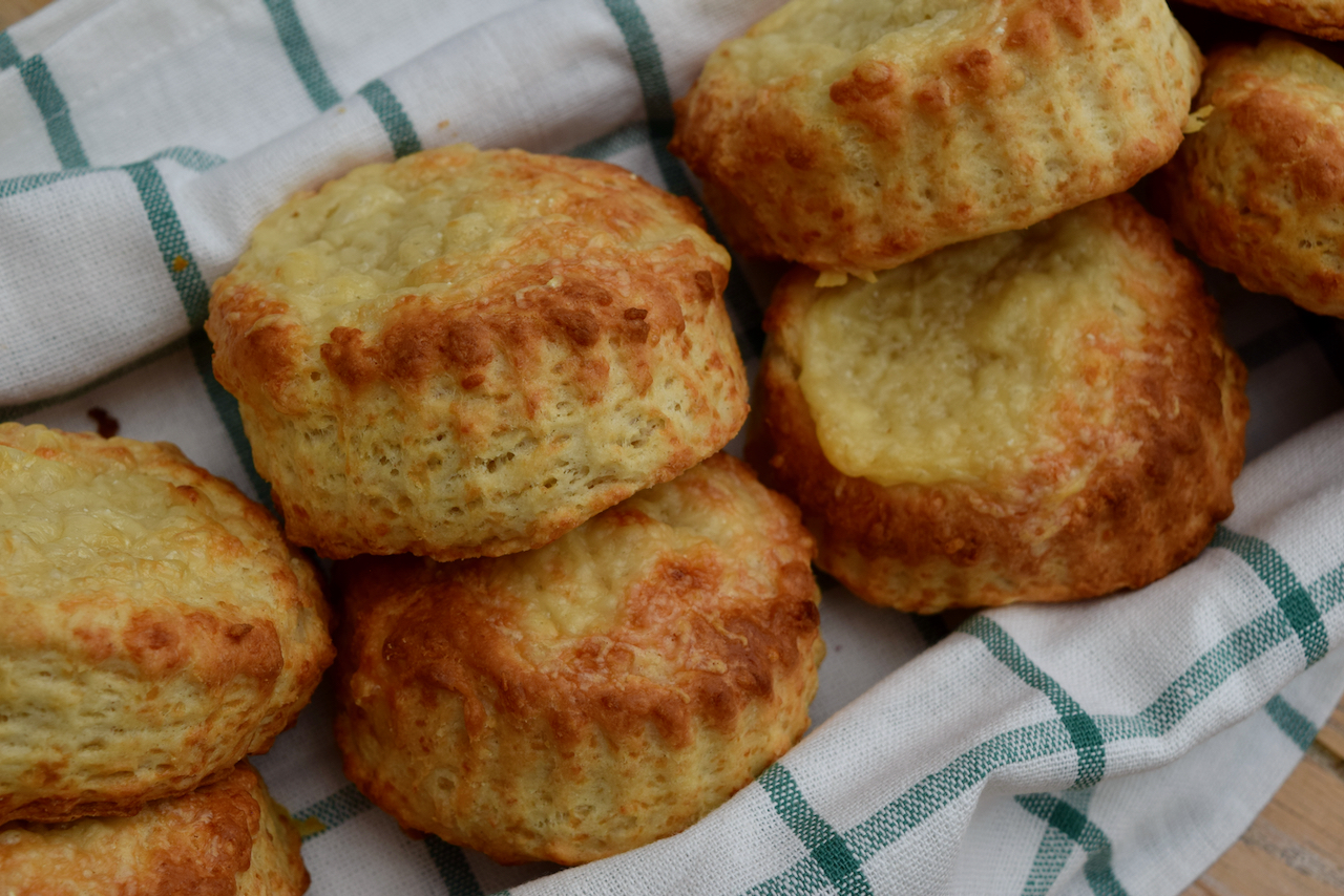 Warm Cheese Scones recipe from Lucy Loves Food Blog