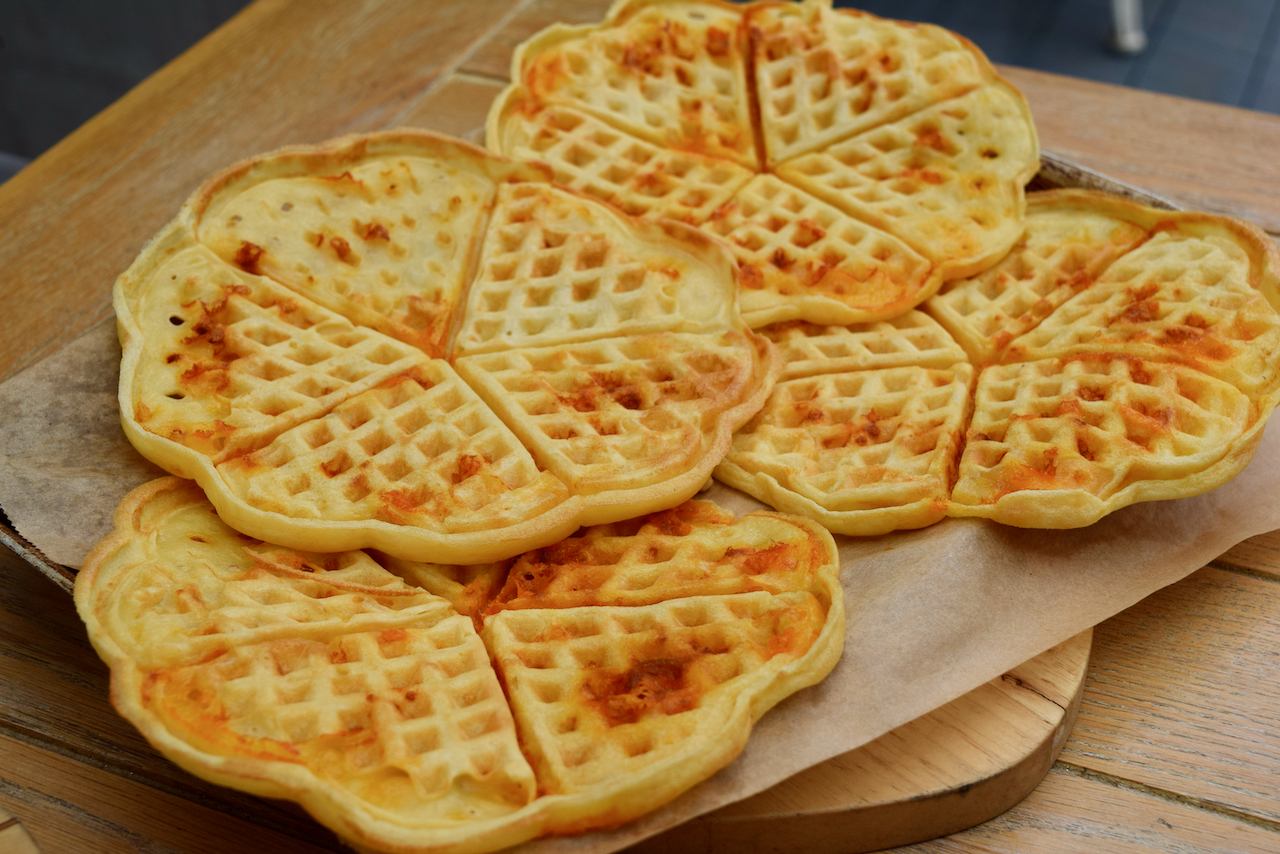 Cheese Waffles recipe from Lucy Loves Food Blog