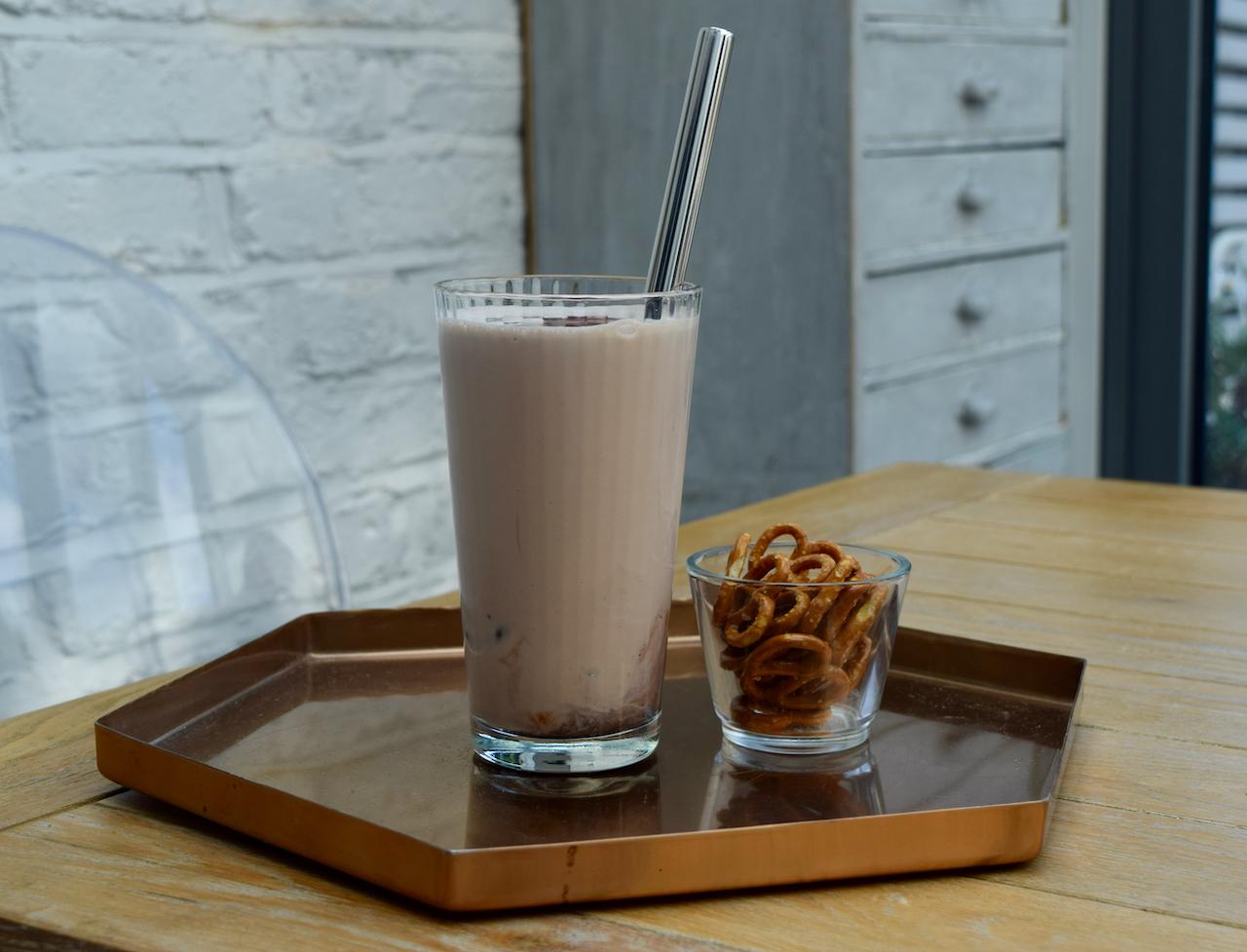 Bourbon Chocolate Milkshake from Lucy Loves Food Blog