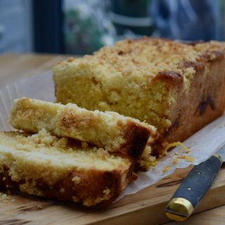 Lemon Curd Crumble Loaf recipe from Lucy Loves Food Blog