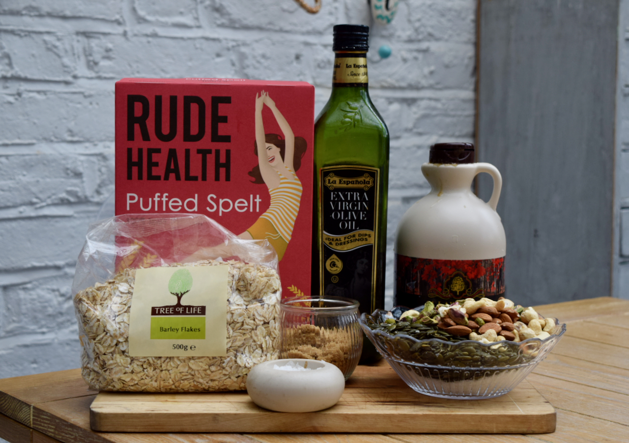Puffed Whole Grain Granola recipe from Lucy Loves Food Blog