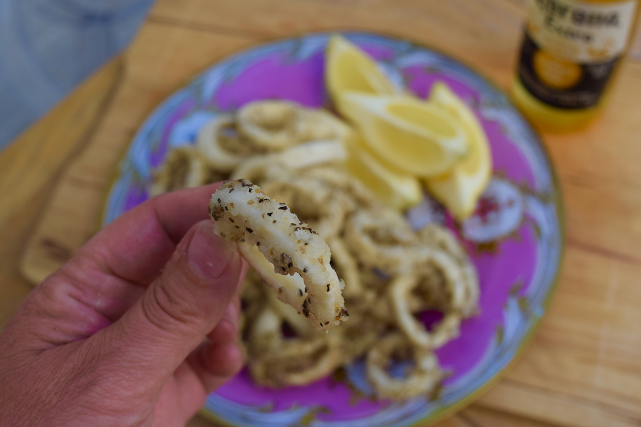 Salt and Pepper Squid recipe from Lucy Loves Food Blog