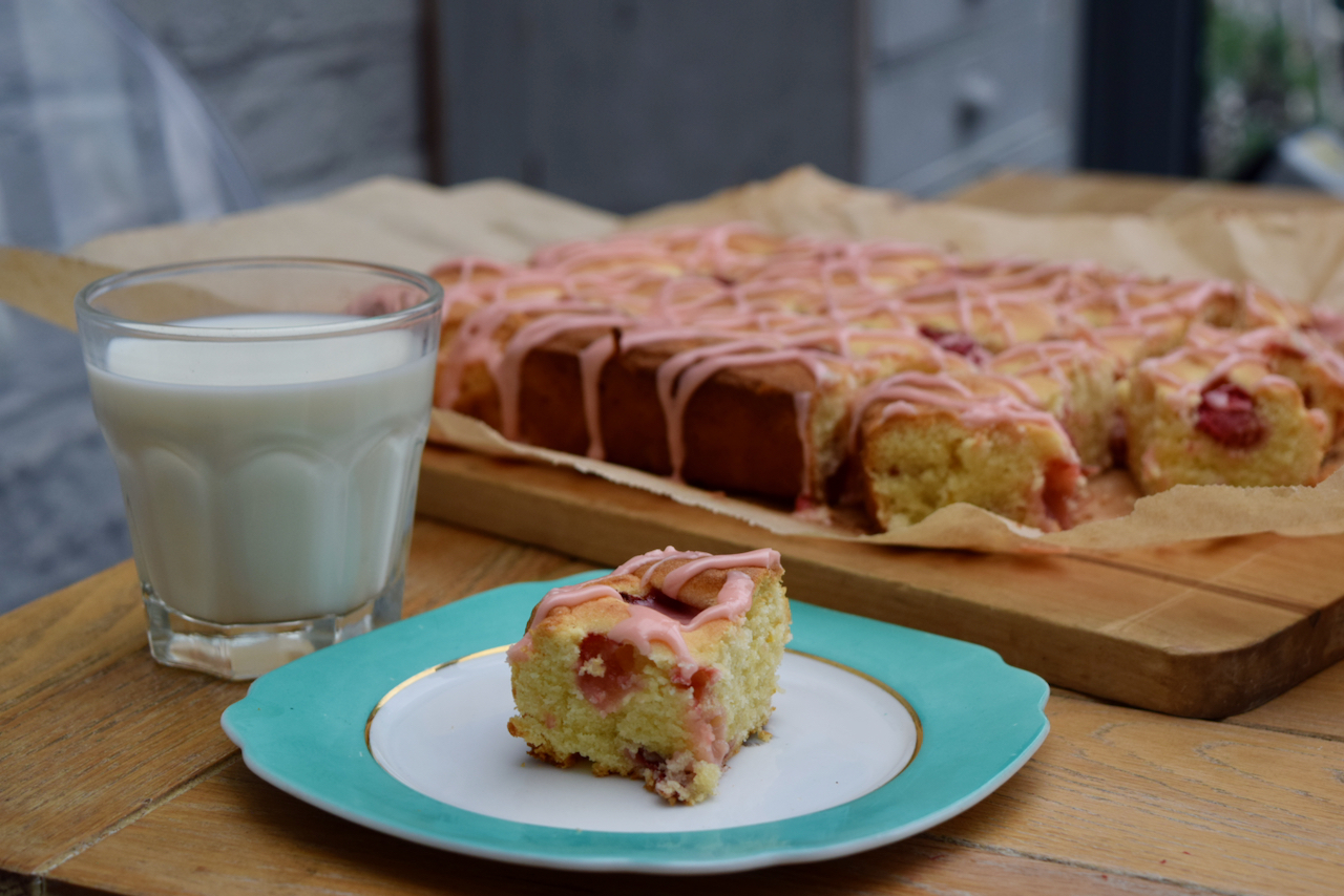 Strawberry and Lemon Squares recipe from Lucy Loves Food Blog