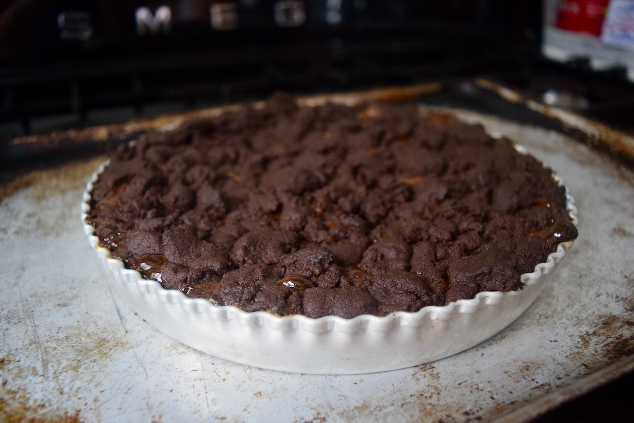 Chocolate Shortbread Caramel Tart recipe from Lucy Loves Food Blog