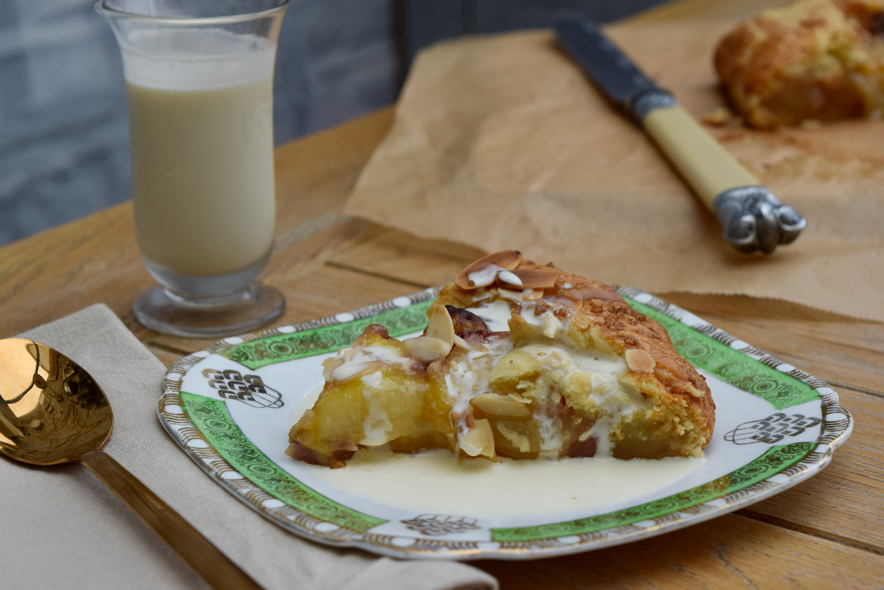 Peach and Almond Galette recipe from Lucy Loves Food Blog