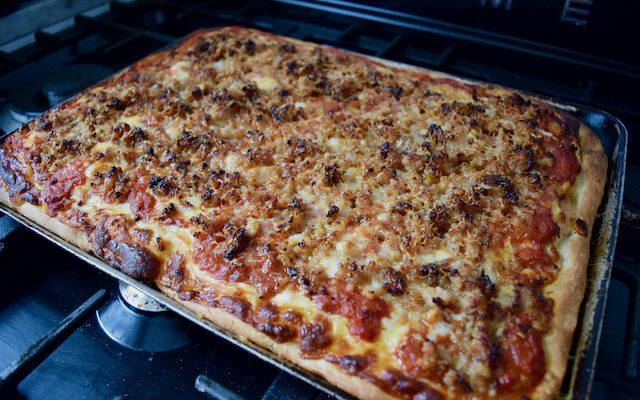 No Knead Sheet Pan Pizza