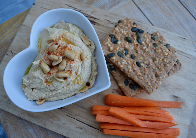 Peanut Butter Houmous recipe from Lucy Loves Food Blog