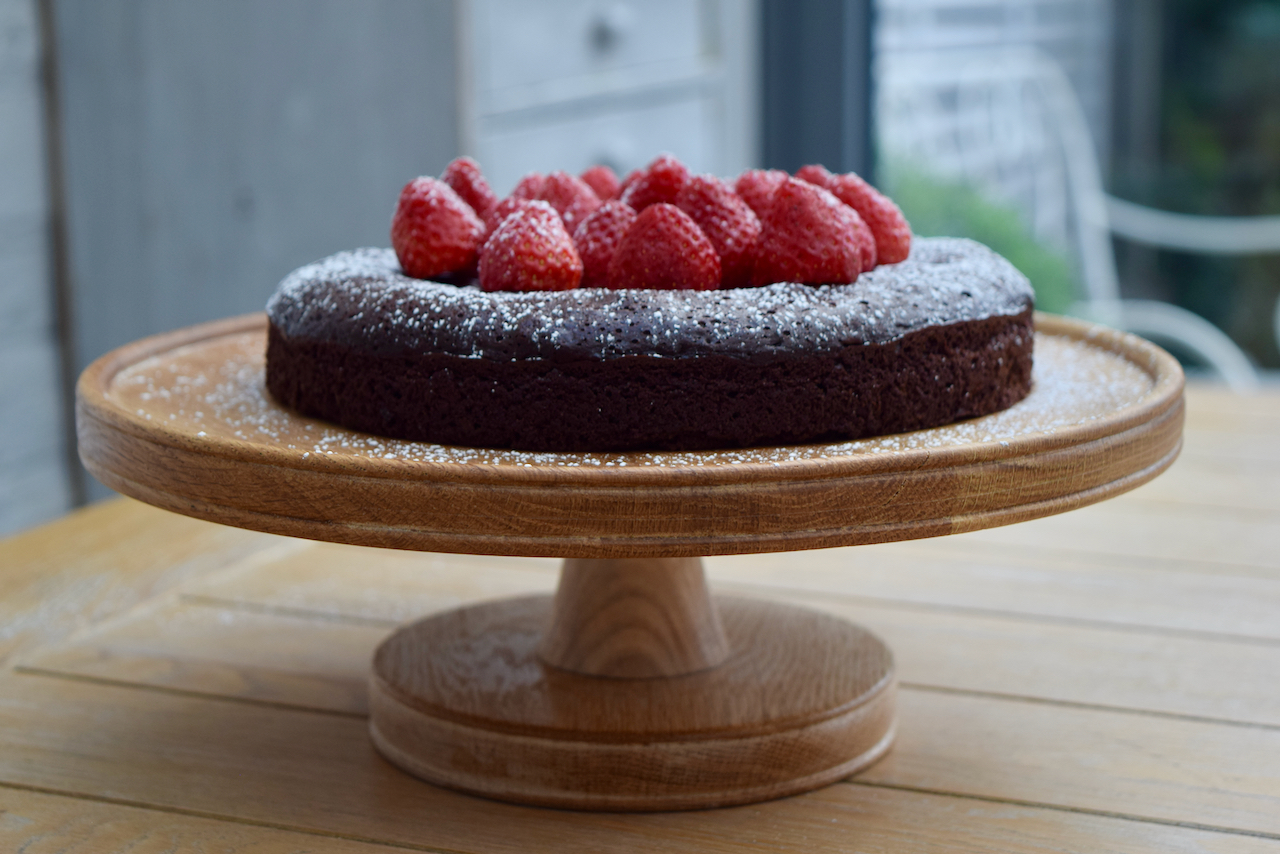Rich Flourless Chocolate Cake recipe from Lucy Loves Food Blog