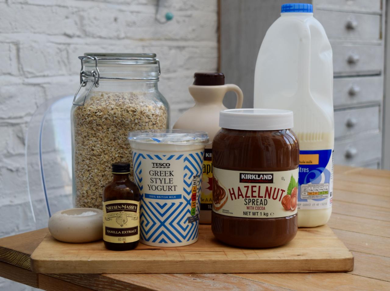 Nutella Fridge Porridge recipe from Lucy Loves Food Blog