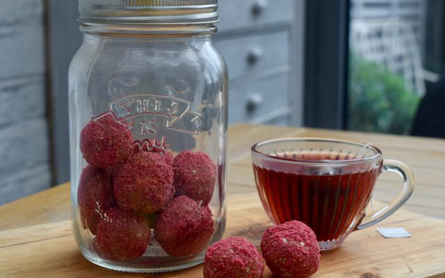 Raspberry and Coconut Balls